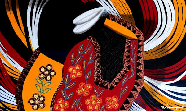 Female Native American Powwow Dancer