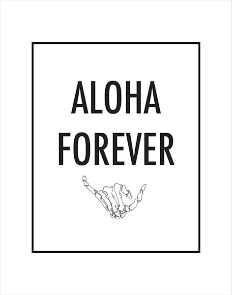 Matted Prints   Aloha Forever