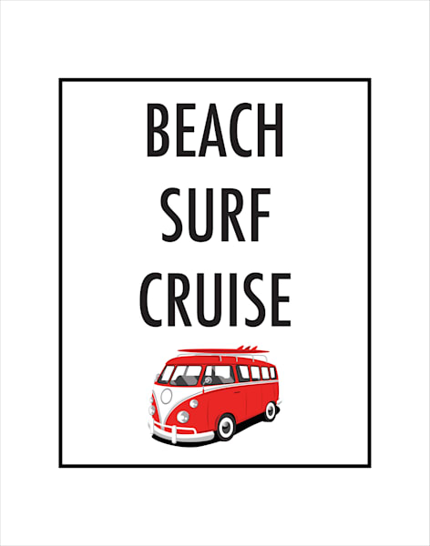Matted Prints   Beach Surf Cruise