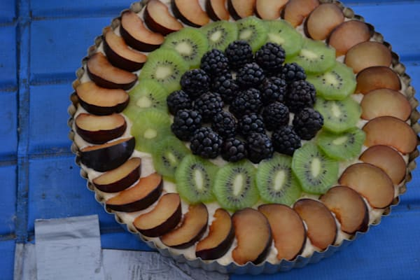 Photograph of a tart on a table for sale as Fine Art