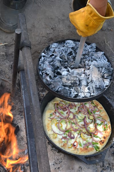 Photograph of a pizza cooked in a Dutch Oven for sale as Fine Art