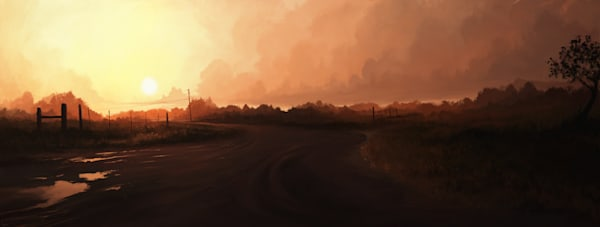Morning RIde: Fine Art Print by Hondo Branson.