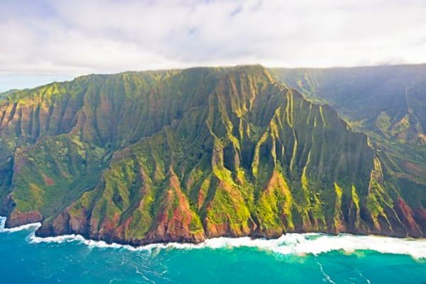 Airel shots of Kauai