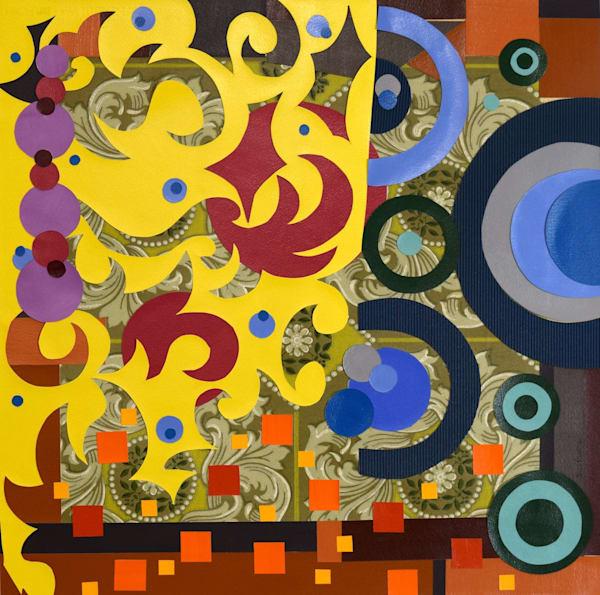 collage, art, yellow