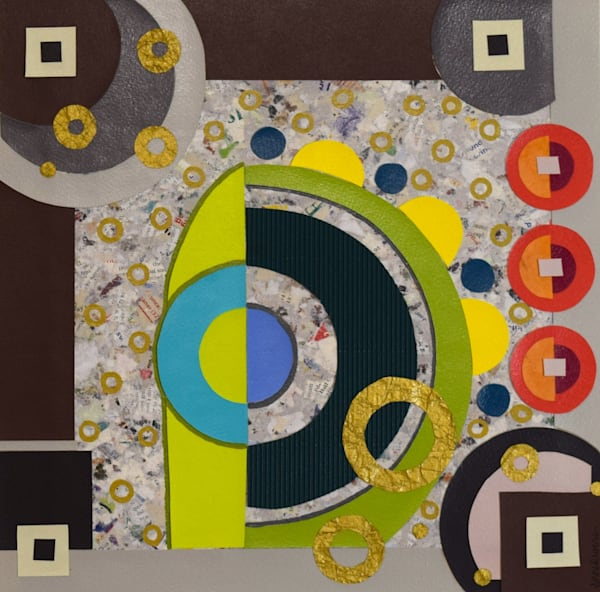 Collage Abstract Color Art for sale | Anne Rivers