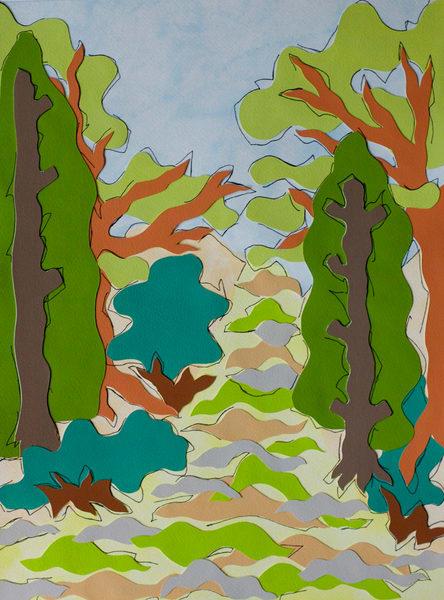 landscapes, art, paper