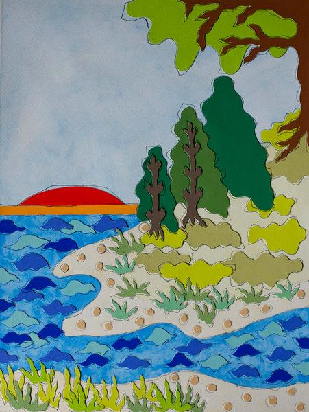 landscapes, art, water