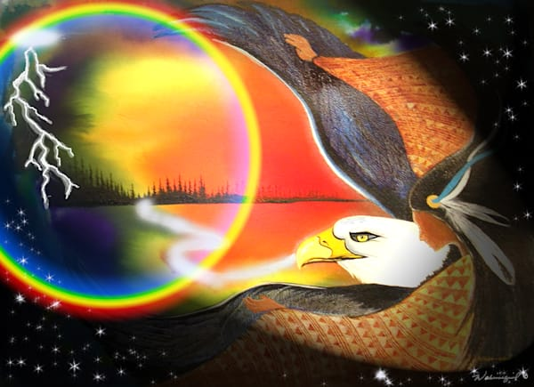 Flying Eagle Woman