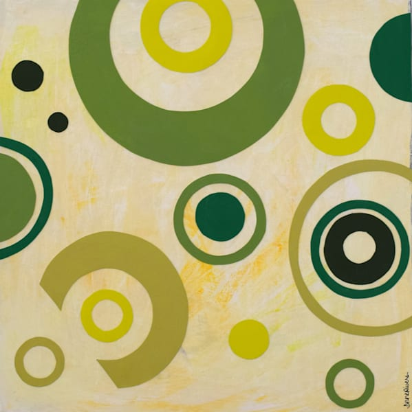 Go Green, acrylic on board, original abstract art paintings for sale/Peachtree City, GA