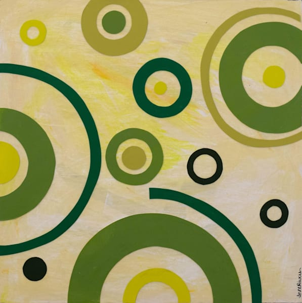 Go Green II, acrylic on canvas, original abstract art paintings for sale/Peachtree City, GA