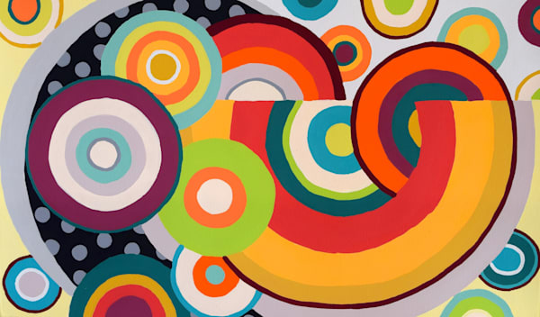 Circles Abstract Paintings Art for sale | Anne Rivers