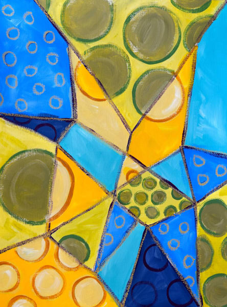 Prism, acrylic on paper, abstract art, paintings for sale/Peachtree City, GA