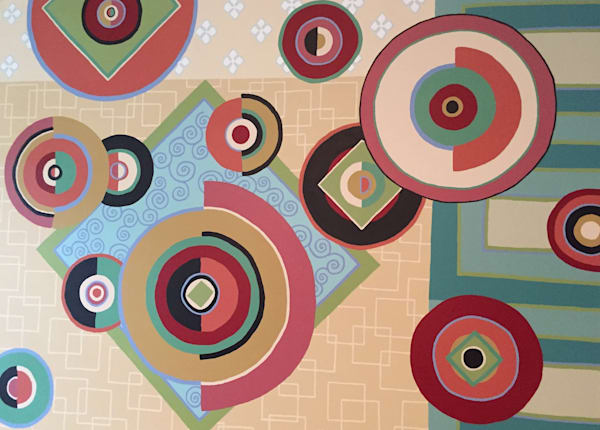 Circle Revolution, acrylic on canvas, original abstract art paintings for sale/Peachtree City, GA
