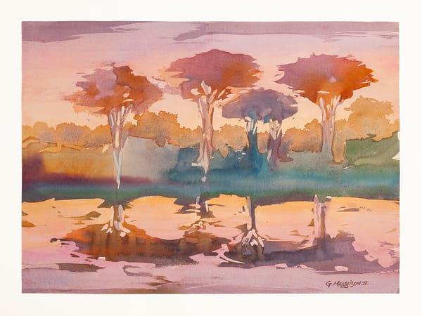 Return to Pine Island | Contemporary Abstract Watercolors | Gordon Meggison IV