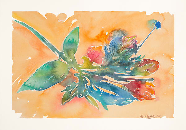 Bouquet | Contemporary Abstract Watercolors | Gordon Meggison IV
