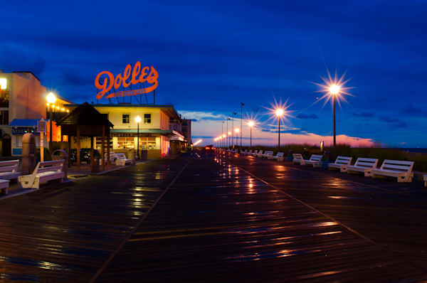 Early Morning at Dolles Limited Edition Signed Fine Art Night Landscape Photograph by Melissa Fague