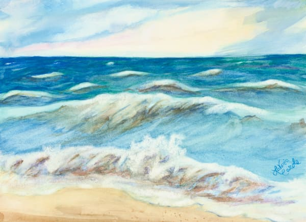 Beach Art Plein-Air Painting-Fine Art Print