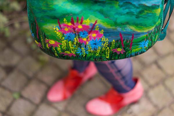 """Flourish"" handbag by Rebecca Siccama"