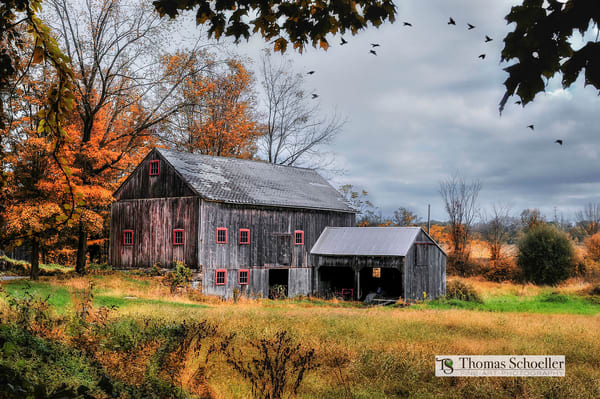 beautifully rustic barn art print from Connecticut's highlands