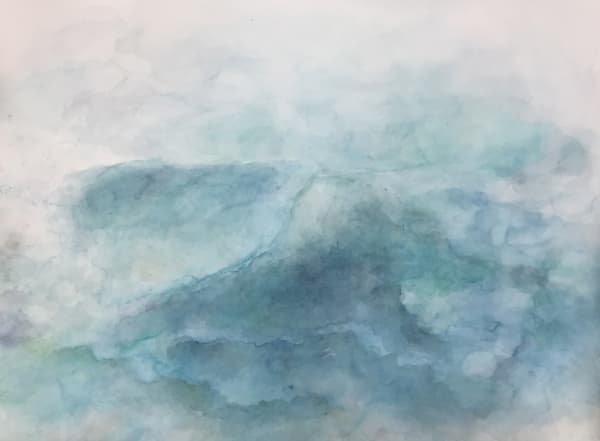 Calm Seas - Contemporary Abstract Landscape Painting | Samantha Kaplan