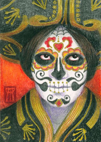 Day the Dead with Sombrero