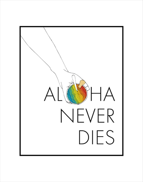Matted Prints   Aloha Never Dies