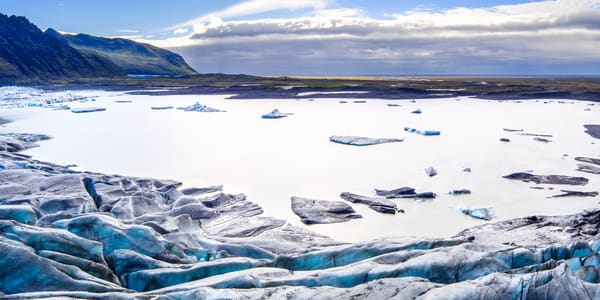 Skaftafell Glacier Lagoon Aerial