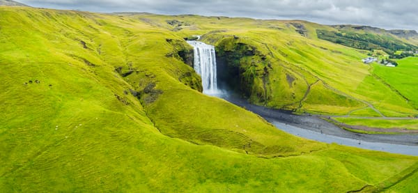 Skogafoss from Above