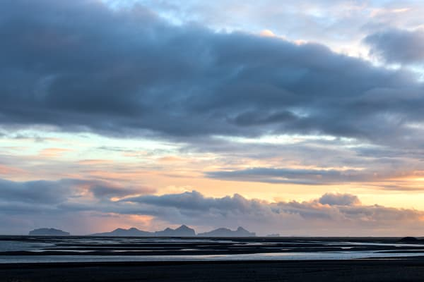 Black Sand Sunset Iceland Print