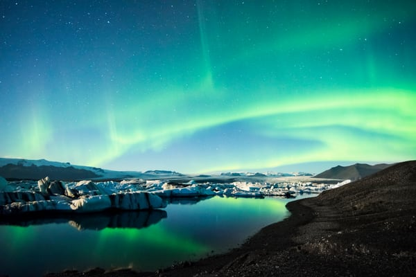 Frozen Auroras print by Brad Scott