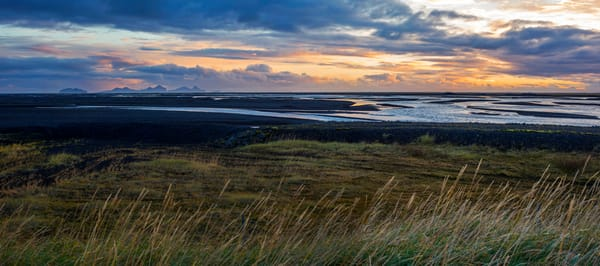 Icelandic Sunset Panoramic Print