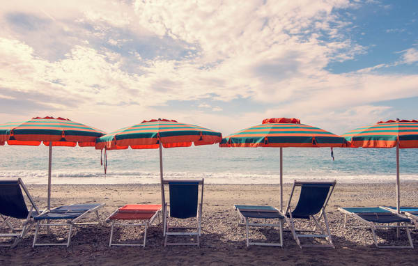 Relax in Monterosso Art Print