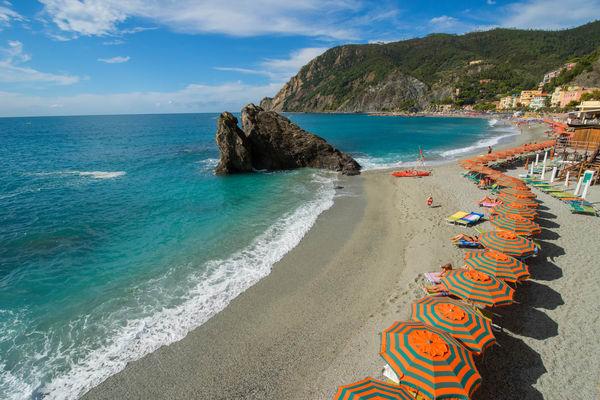 Monterosso Beach Day, Cinque Terre, Italy Art