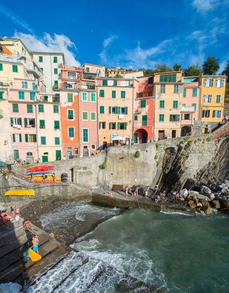 Riomaggiore Harbor Stairs Print