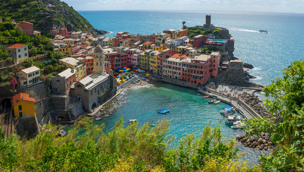 Vernazza Panorama Fine Art Photograph