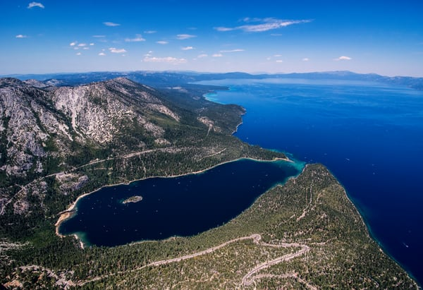 Emerald Bay to Rubicon Point Aerial photo