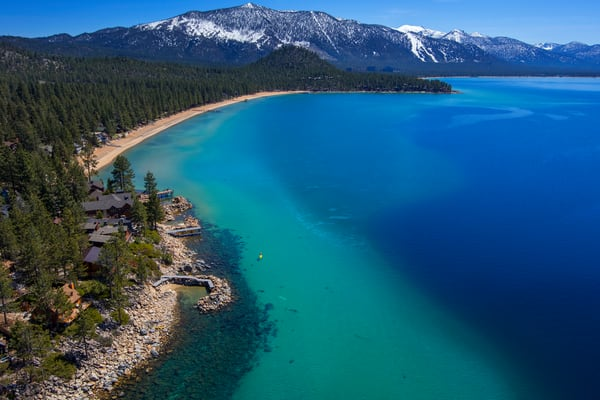 Lake Tahoe SUP Aerial photo by Brad Scott