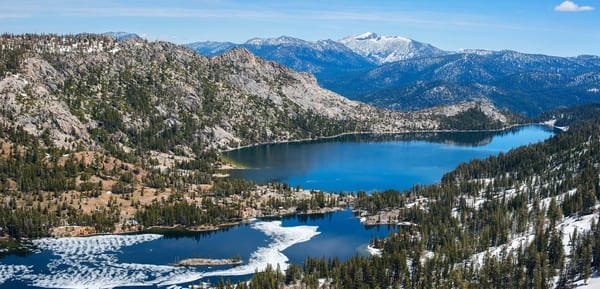 Echo Lake Aerial Panoramic print by Brad Scott