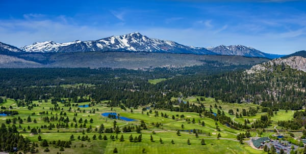 Lake Tahoe Golf Course Aerial Panorama