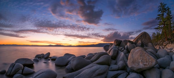 East Shore Cove Panorama Lake Tahoe Art Print