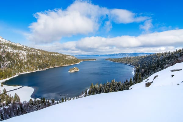 Emerald Bay Slopes, Lake Tahoe Winter Photograph print