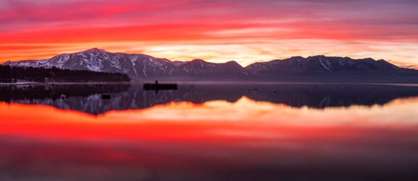 Tahoe Aglow, Lake Tahoe sunset print by Brad Scott
