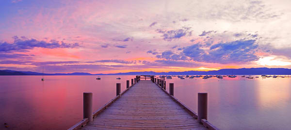 Morning pier Lake Tahoe Print