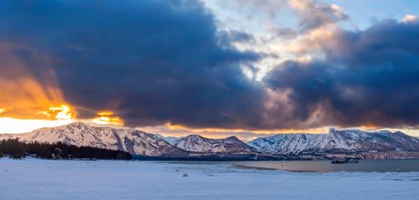 Winter Rays, Lake Tahoe print by Brad Scott