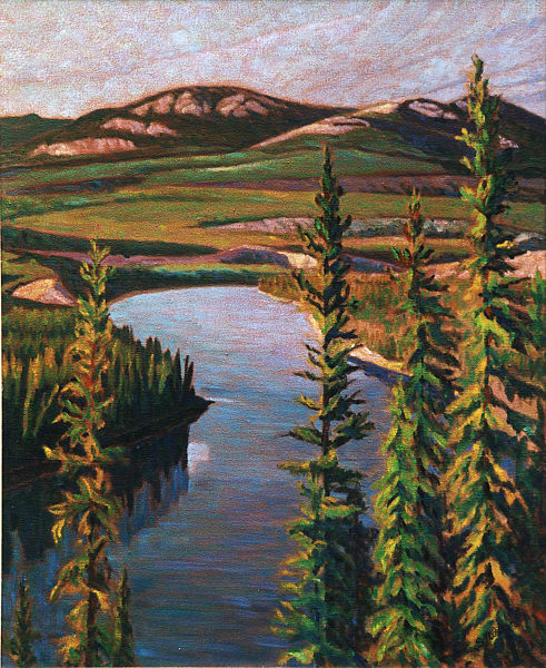 Lookout at Wolf Creek, view of the Yukon River by Sherry Nielsen