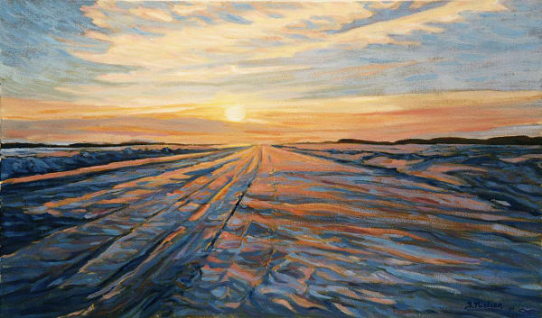 Ice Road - The MacKenzie River by Canadian artist Sherry Nielsen