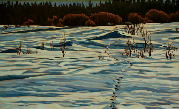Tracks In Snow - Canadian artist Sherry Nielsen -prints and originals