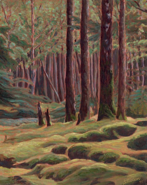 Rainforest - painting by Sherry Nielsen available in print.