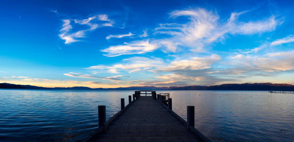 Valhalla Pier Cloudscape Lake Tahoe Print by Brad Scott