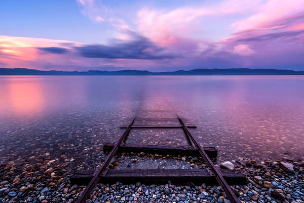 Tracks to Tahoe,  Lake Tahoe print by Brad Scott